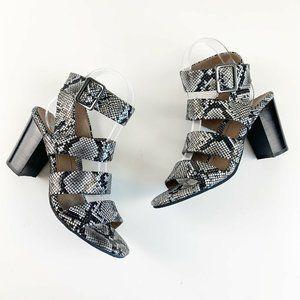 Vionic Blaire Snakeskin Print Chunky Heel Sandals